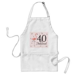 Flamingos Pink 40 and Fabulous! apron