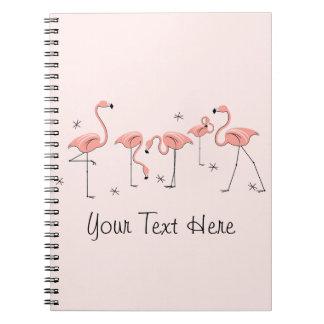Flamingos Pink Group Text notebook