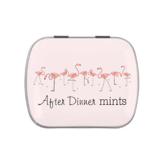Flamingos Pink Line After Dinner Mints candy tin