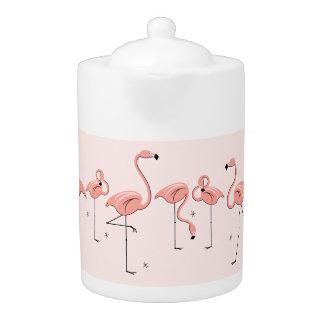 Flamingos Pink Line teapot