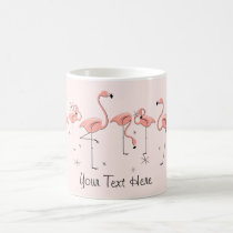 Flamingos Pink Line 'Text' mug