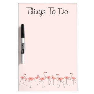 """Flamingos Pink Line """"Things To Do"""" dry erase board"""
