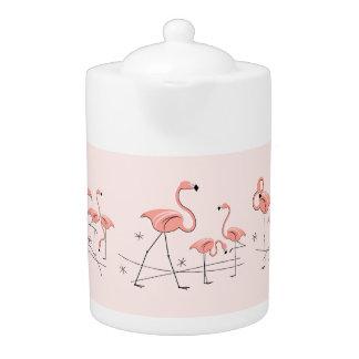 Flamingos Pink Multi Large teapot