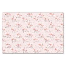 Flamingos Pink Multi tissue paper