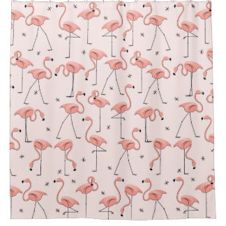 Beautiful Pink Grey Shower Curtain Contemporary - Best image 3D ...