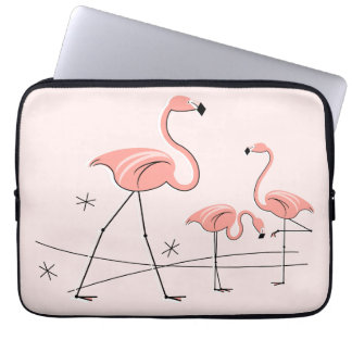 Flamingos Pink Trio 2 laptop sleeve