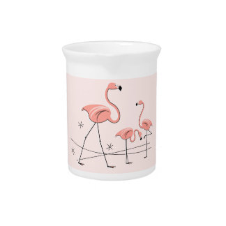 Flamingos Pink Trio 2 pitcher