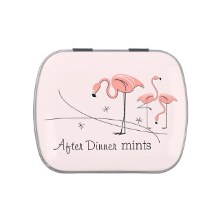 Flamingos Pink Trio 3 After Dinner Mints candy tin