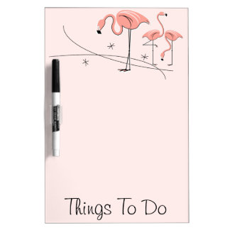 "Flamingos Pink Trio 3 ""Things To Do"" dry erase Dry Erase Board"