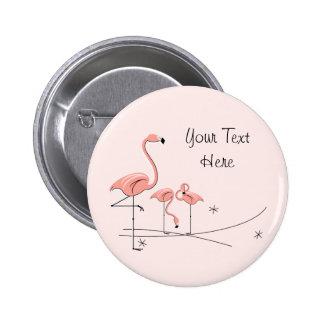Flamingos Pink Trio 4 'Text' button