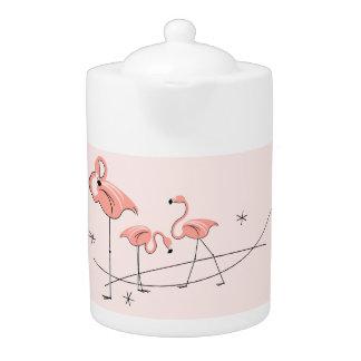 Flamingos Pink Trio teapot
