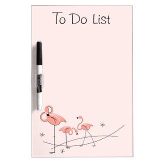 "Flamingos Pink Trio ""To Do List"" dry erase board"