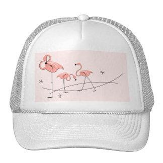 Flamingos Pink Trio trucker hat