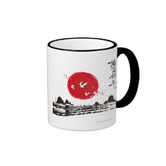 Flamingos Ringer Mug