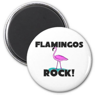 Flamingos Rock 2 Inch Round Magnet