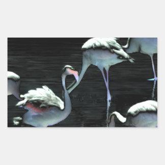Flamingos Spell Peace Rectangular Sticker