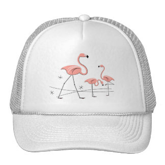 Flamingos Stars Trio 2 group trucker hat