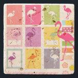 """Flamingos Stone Coaster<br><div class=""""desc"""">Flamingos</div>"""
