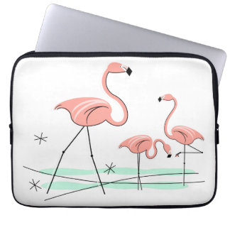 Flamingos Trio 2 laptop sleeve