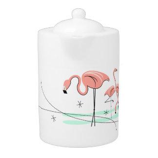 Flamingos Trio 3 teapot