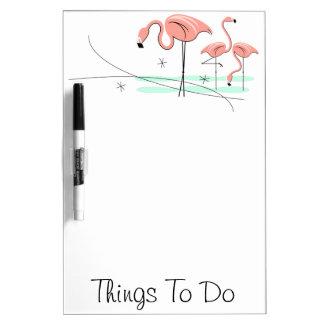"Flamingos Trio 3 ""Things To Do"" dry erase board"