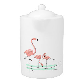 Flamingos Trio 4 teapot