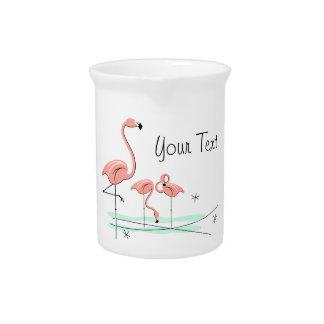 Flamingos Trio 4 text pitcher