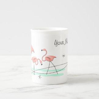 Flamingos Trio Name bone china mug Tea Cup