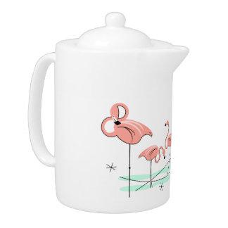 Flamingos Trio teapot