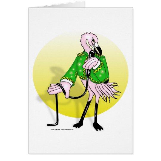 FlamingoSinger Card