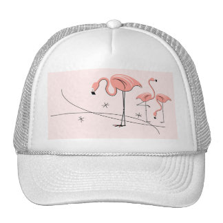 FlamingosPink Trio 3 trucker hat