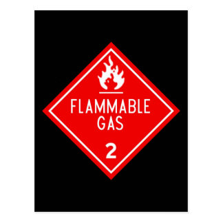 flammable gas postcard