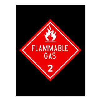 flammable gas postcard