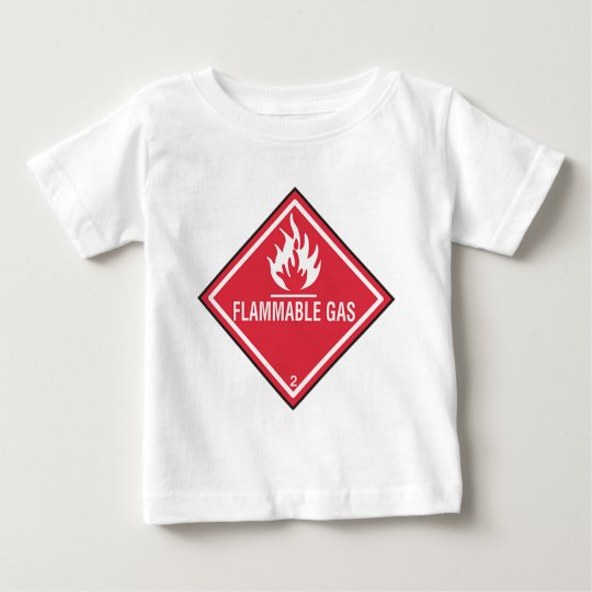 Flammable Gas Sign Baby T-Shirt