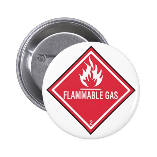 Flammable Gas Sign Button