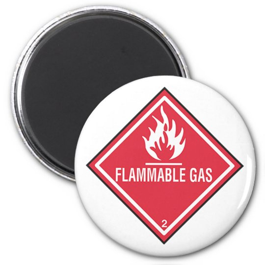 Flammable Gas Sign Magnet