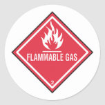 Flammable Gas Sign Stickers