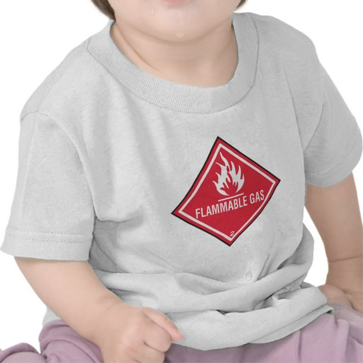 Flammable Gas Sign T Shirts