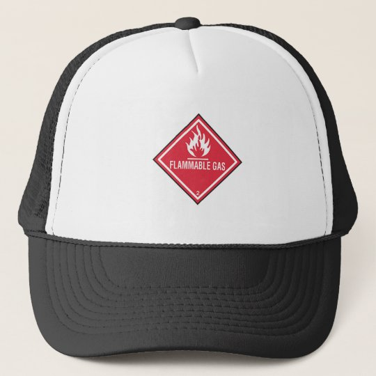 Flammable Gas Sign Trucker Hat