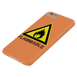 Flammable Hazard Sign Barely There iPhone 6 Plus Case
