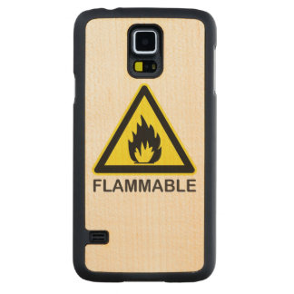 Flammable Hazard Sign Carved® Maple Galaxy S5 Slim Case