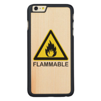 Flammable Hazard Sign Carved® Maple iPhone 6 Plus Case