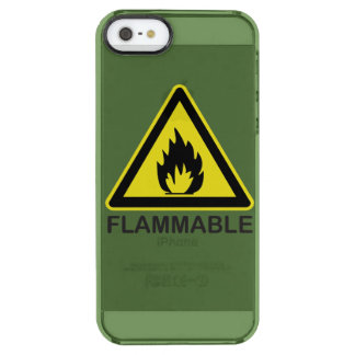 Flammable Hazard Sign Clear iPhone SE/5/5s Case