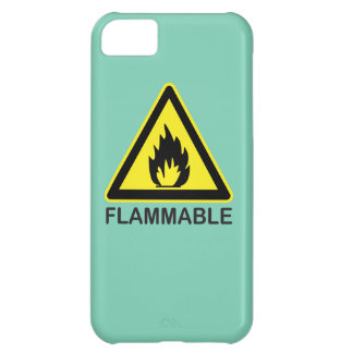 Flammable Hazard Sign Cover For iPhone 5C