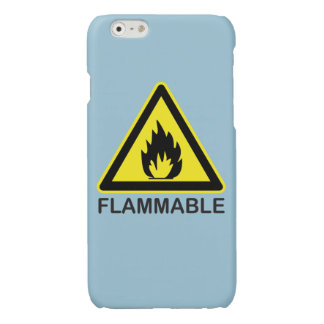 Flammable Hazard Sign Glossy iPhone 6 Case