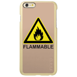 Flammable Hazard Sign Incipio Feather® Shine iPhone 6 Plus Case