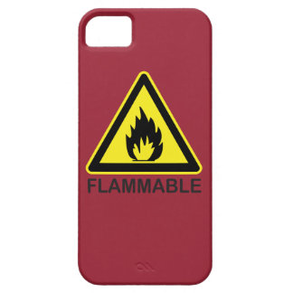 Flammable Hazard Sign iPhone SE/5/5s Case