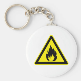 Flammable Sign Keychain