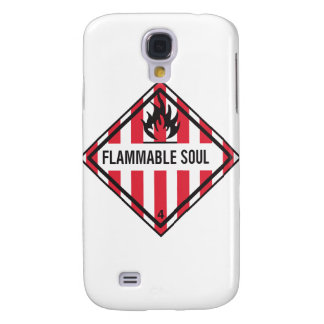 FLAMMABLE SOUL SAMSUNG S4 CASE