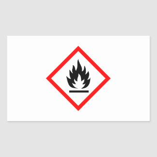 Flammable Symbol / Pictogram Sticker